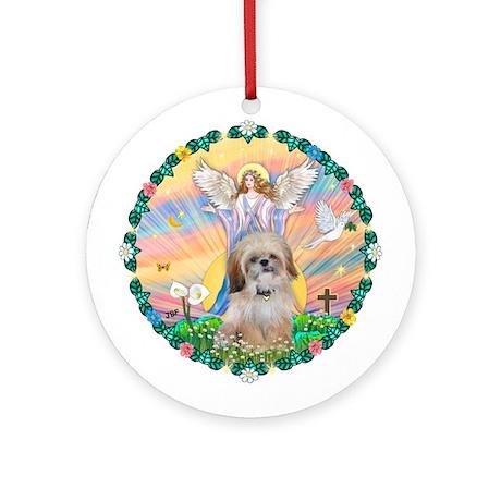 Blessing /Shih Tzu Ornament (Round)