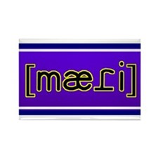 "Phonetic ""Maddie"" Rectangle Magnet"