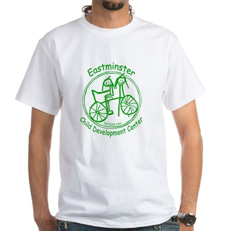 Green Logo White T-Shirt