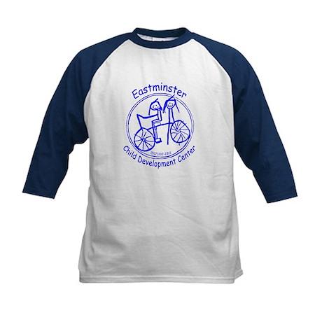 Blue Logo Kids Baseball Jersey