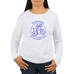 Blue Logo Women's Long Sleeve T-Shirt
