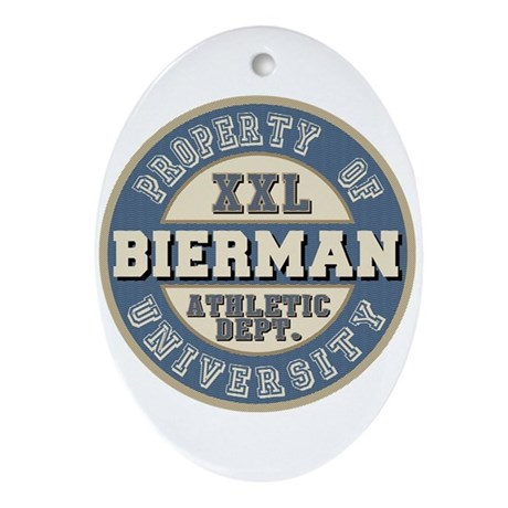 Bierman Last Name Athletic Department Ornament (Ov
