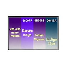 Rectangle Indigo Magnet
