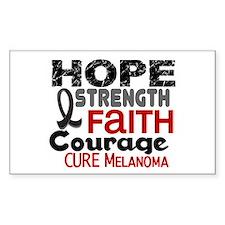 HOPE Melanoma 3 Rectangle Decal