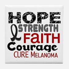 HOPE Melanoma 3 Tile Coaster