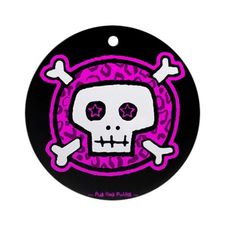 Punk Rock Padding Ornament (Round)