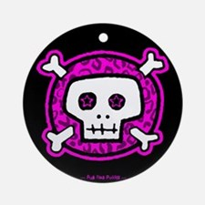 Punk Rock Padding Ornament (Round)