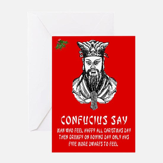Funny Confucius saying Christmas Greeting Card