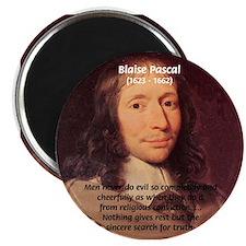 "Mathematician: Blaise Pascal 2.25"" Magnet (100 pac"