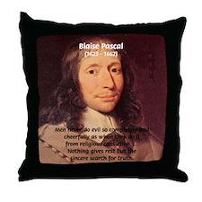 Mathematician: Blaise Pascal Throw Pillow
