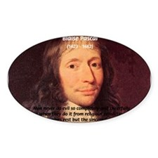 Mathematician: Blaise Pascal Oval Decal