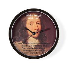 Mathematician: Blaise Pascal Wall Clock