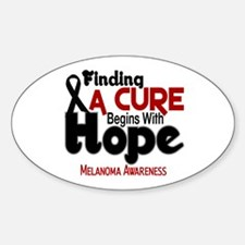 HOPE Melanoma 5 Oval Decal