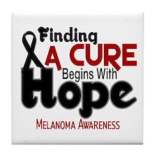 HOPE Melanoma 5 Tile Coaster