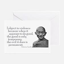 "Gandhi - ""I object to violenc Greeting Cards (Pack"
