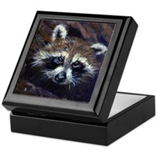Peek-A-Boo Raccoon Custom Keepsake Box