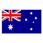Australian National Flag Rectangle Sticker 50 pk)