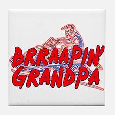 Brraapin' Grandpa Tile Coaster