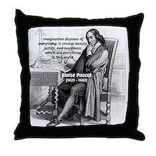 Mathematics: Blaise Pascal Throw Pillow