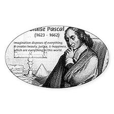 Mathematics: Blaise Pascal Oval Decal