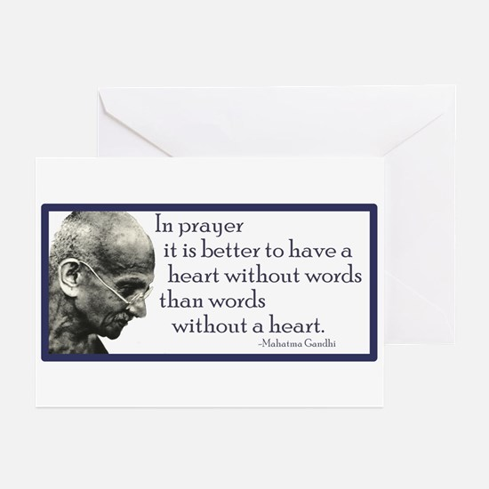 Gandhi - ...it is better to h Greeting Cards (Pack