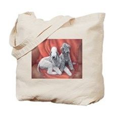 Bedlington Puppy Love Tote Bag