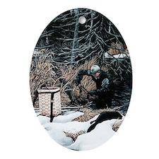Trapper Oval Ornament