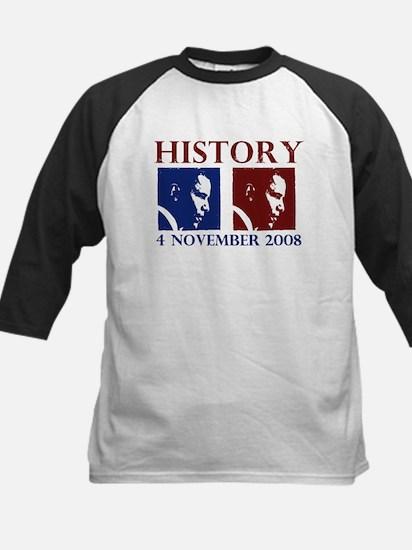 History 11-4-2008 Kids Baseball Jersey