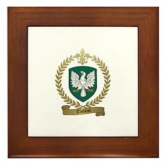 THEBEAU Family Crest Framed Tile