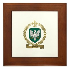 THEBEAU Family Crest Framed Tile