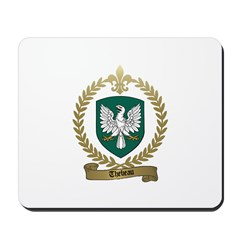 THEBEAU Family Crest Mousepad