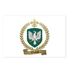 THEBEAU Family Crest Postcards (Package of 8)