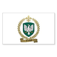 THEBEAU Family Crest Rectangle Decal