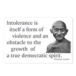 Gandhi quote - Intolerance is Postcards (Package o
