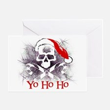 Unique Pirate christmas Greeting Card