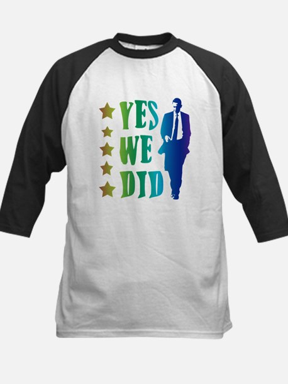 Yes We Did Rainbow Kids Baseball Jersey