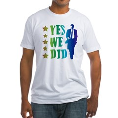 Yes We Did Rainbow Fitted T-Shirt