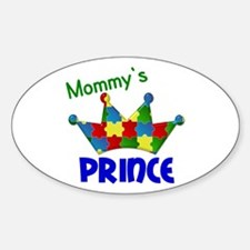 Autistic Prince 3 Oval Decal