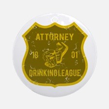 Attorney Drinking League Ornament (Round)
