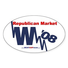 """Republican Market"" Oval Decal"