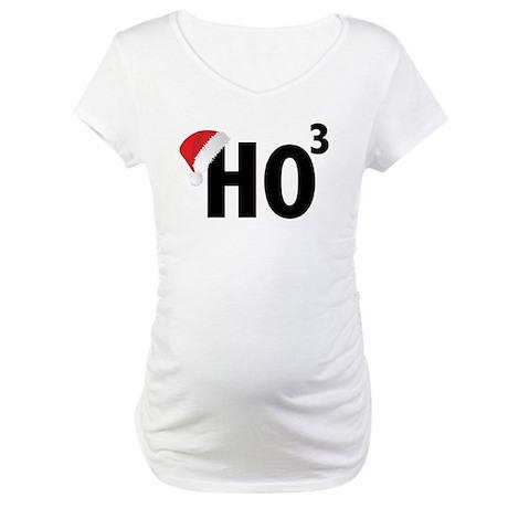 Christmas Ho Ho Ho Santa Maternity T-Shirt