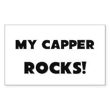 MY Captain ROCKS! Rectangle Decal
