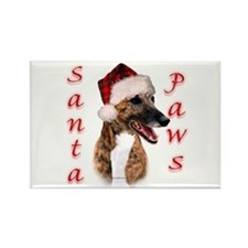 Brindle Santa Paws Rectangle Magnet