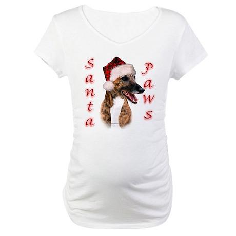 Brindle Santa Paws Maternity T-Shirt