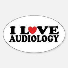 I Love Audiology Oval Decal