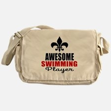 Awesome Swimming Player Messenger Bag