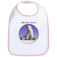I Love Polar Bears! Bib
