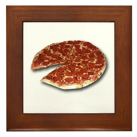The Pizza Framed Tile