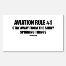 AVIATION RULE #1 Rectangle Decal
