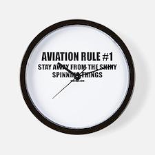 AVIATION RULE #1 Wall Clock